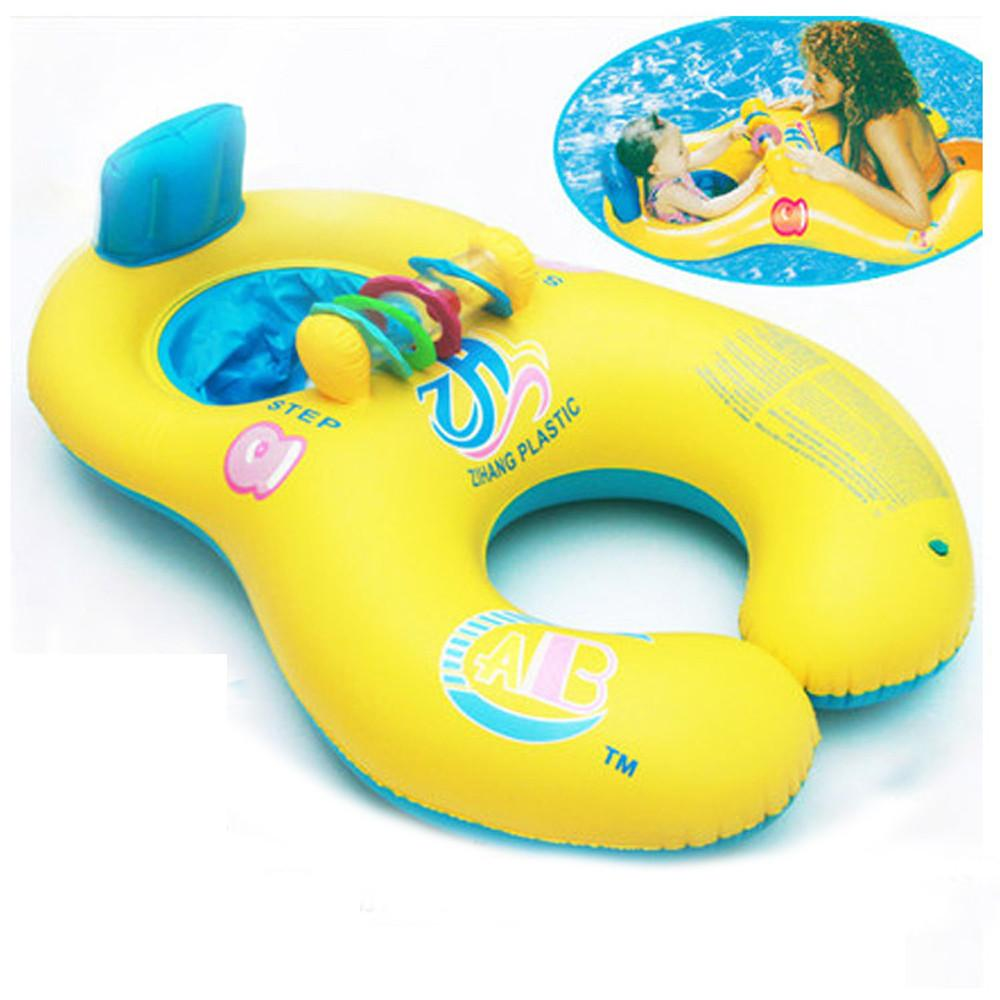 2018 Waterwheel Baby Kids Mother Inflatable Swim Swimming Pool Float ...