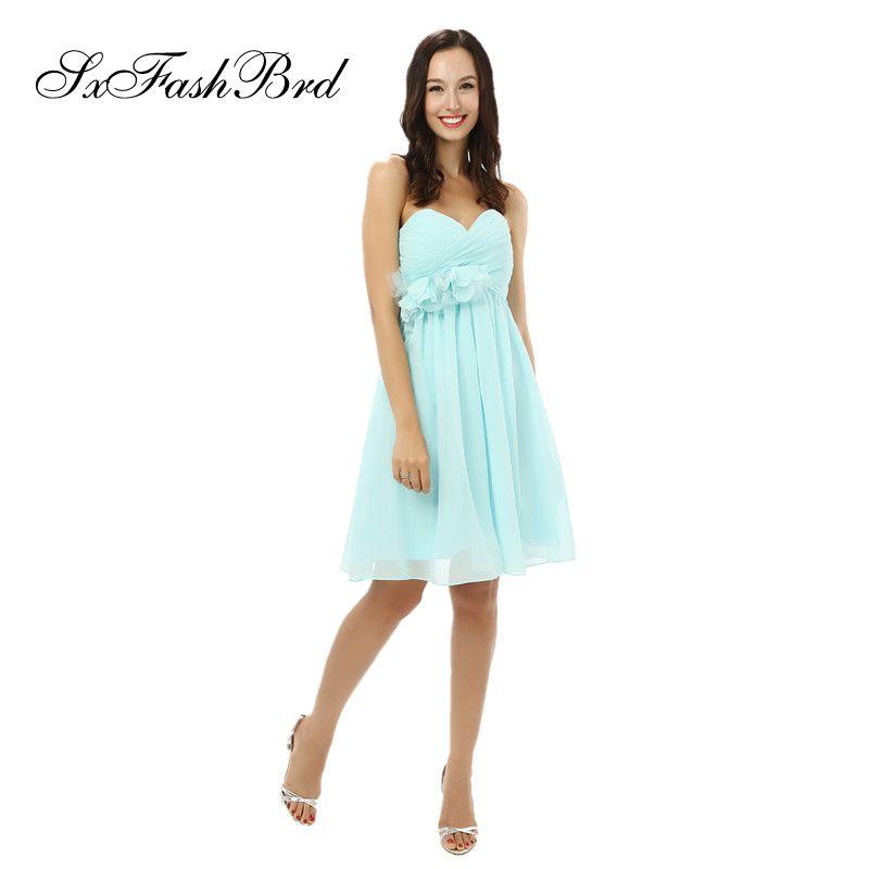 short chiffon prom dresses