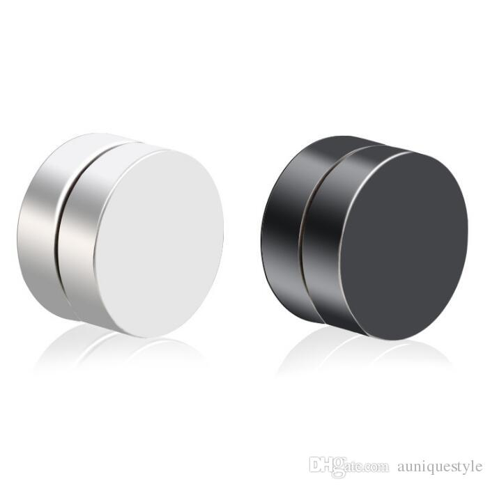 ce5ef60e5 2019 Magnet Non Piercing Earrings, Auniquestyle Stainless Titanium Steel  Round Magnetic Clip On Fake Stud Earrings Mens Magnetic Earrings Jewelry  From ...