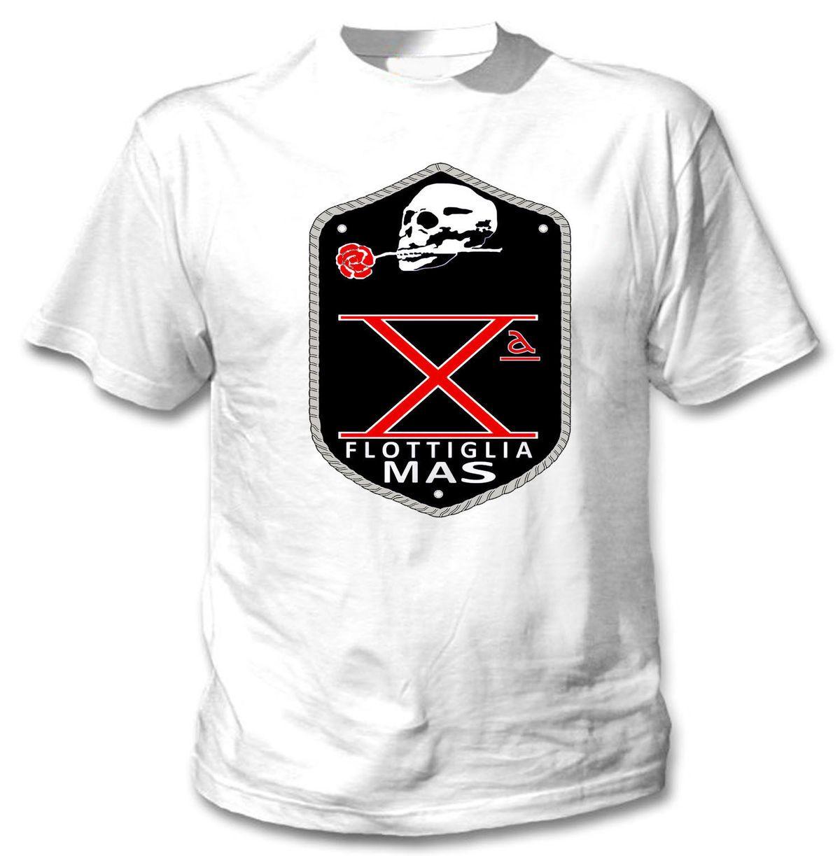 Acquista FLOTTIGLIA ITALIANA DECIMA MAS WWII T Shirt NEW TSHIRT IN COTONE  BIANCO Novità Maglietta Cool Tops Uomo T Shirt Novità A $11.58 Dal Baishi2