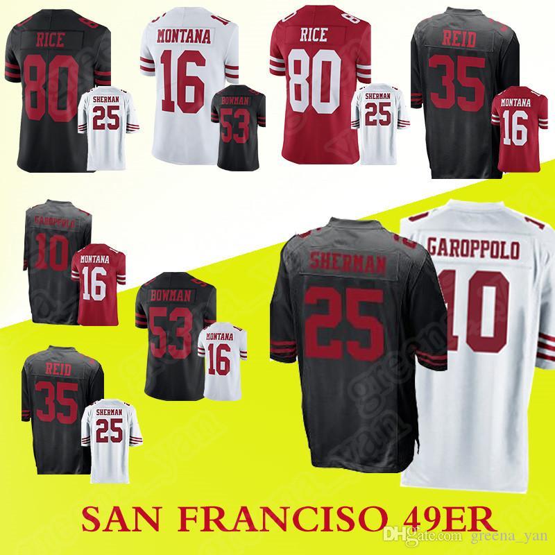 fd5a412f1 Men San Francisco 49er Jerseys 10 Jimmy Garoppolo 25 Richard Sherman ...