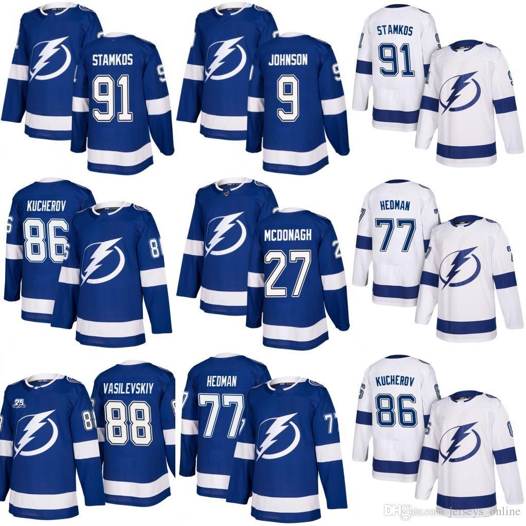 2019 Men Tampa Bay Lightning Hockey 27 McDonagh 77 Victor Hedman 86 ... 1f7699ed9