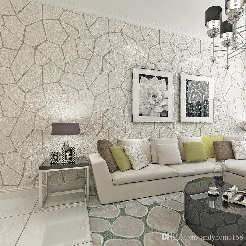 Épais Moderne Murs Pour Géométrie Papier Floqué Rayé Peint Acheter WDHIY9E2