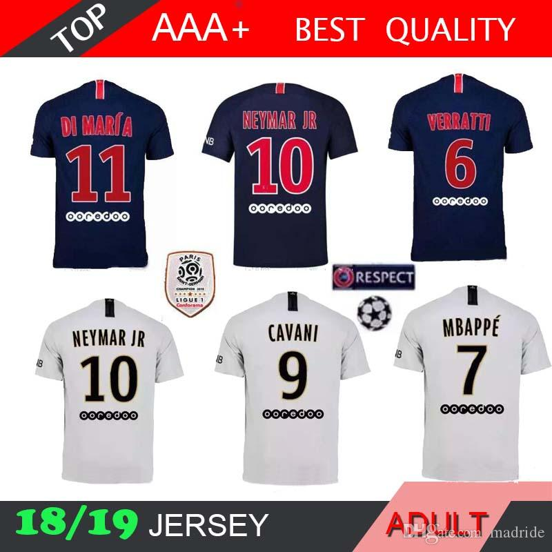 lowest price 70c24 c54b9 2018 NEYMAR JR MBAPPE jersey 18 19 CAVANI DANI ALVES DI MARIA HOME AWAY  Soccer jerseys psg football shirt maillot