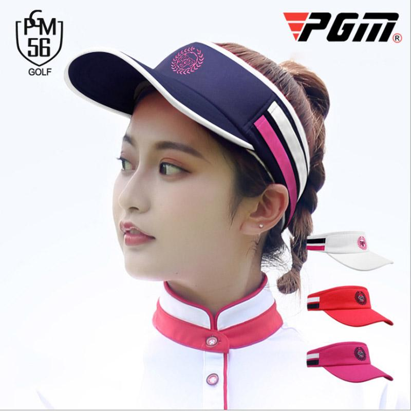38ee83a87aa6c 2019 New Brand PGM Womens Golf Hat Without Top Light Comfortable Adjustable  Sport Cap Cotton Lightweiht Anti UV Nice Golf Caps From Hcaihong
