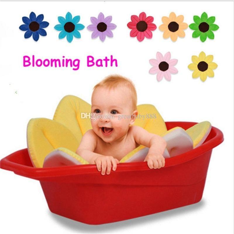 Blooming Bath Baby Flower Soft Cute Foldable Foam for Newborn Baby ...