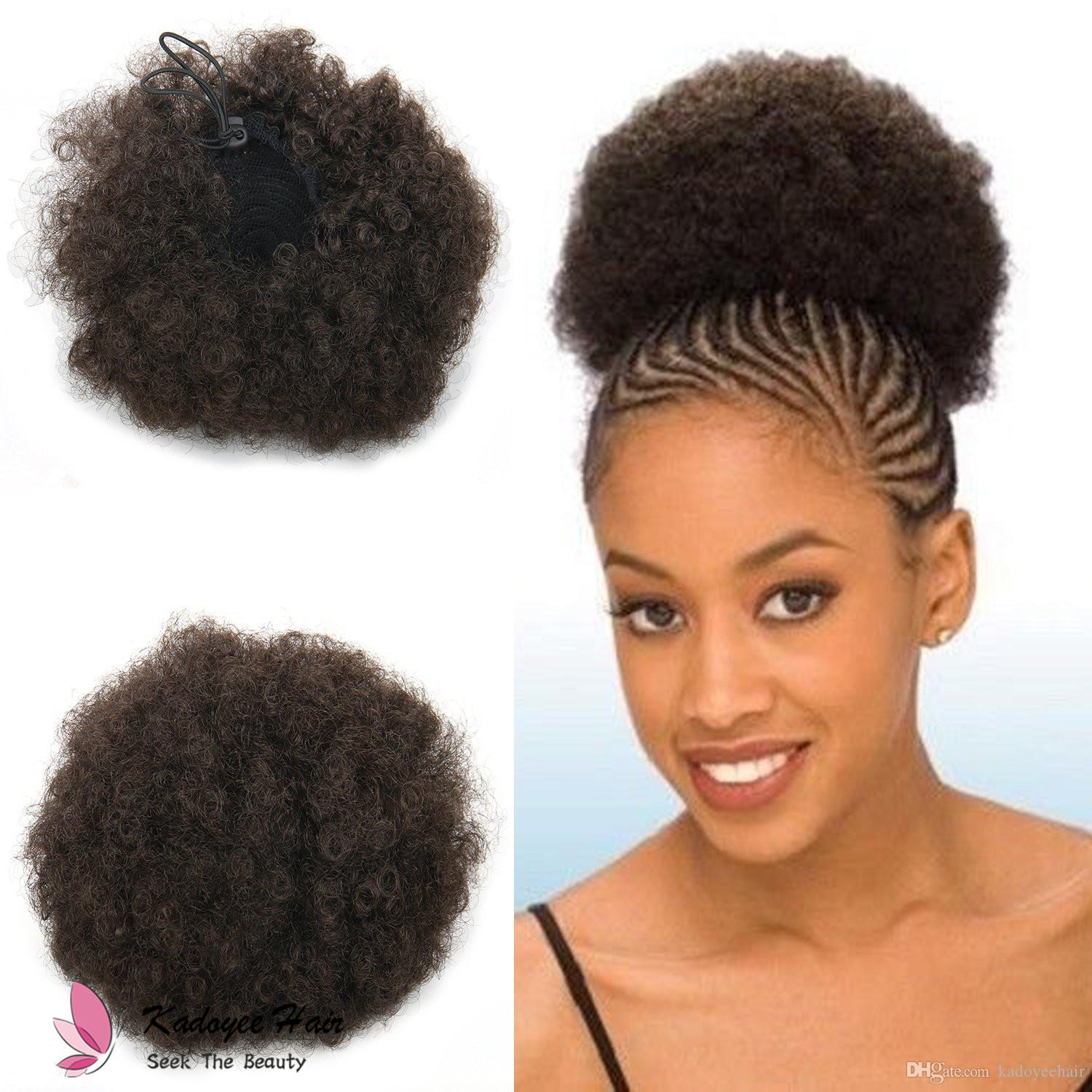 Synthetic Afro Curly Hair Chignon Synthetic Hair Buns Hairpiece Fake