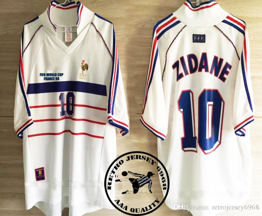 d955fff09 2019 France 1998 Zidane Old Soccer Jersey From Retrojersey6968 ...
