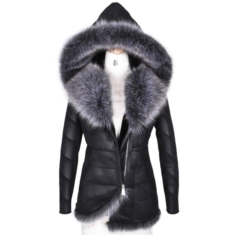 2741992568e 2019 2017 New Winter Women Coat Very Warm Artificial Fox Fur Thick Hooded  Outerwear Plus Size 3XL Fashion Faux Suede Jacket From Brry