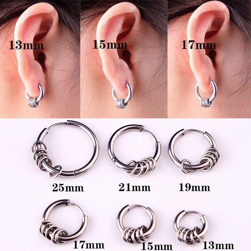 2019 Yixi Vintage Small Hoop Earrings For Women Men Stainless Steel