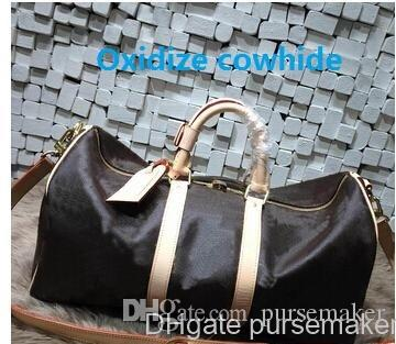 5c093216ad6d Мужская сумка для мужчин с высоким качеством Мужская сумка для путешествий  Сумка для багажа с багажом Реальная окислительная кожа damier vintage  keepall 55 ...
