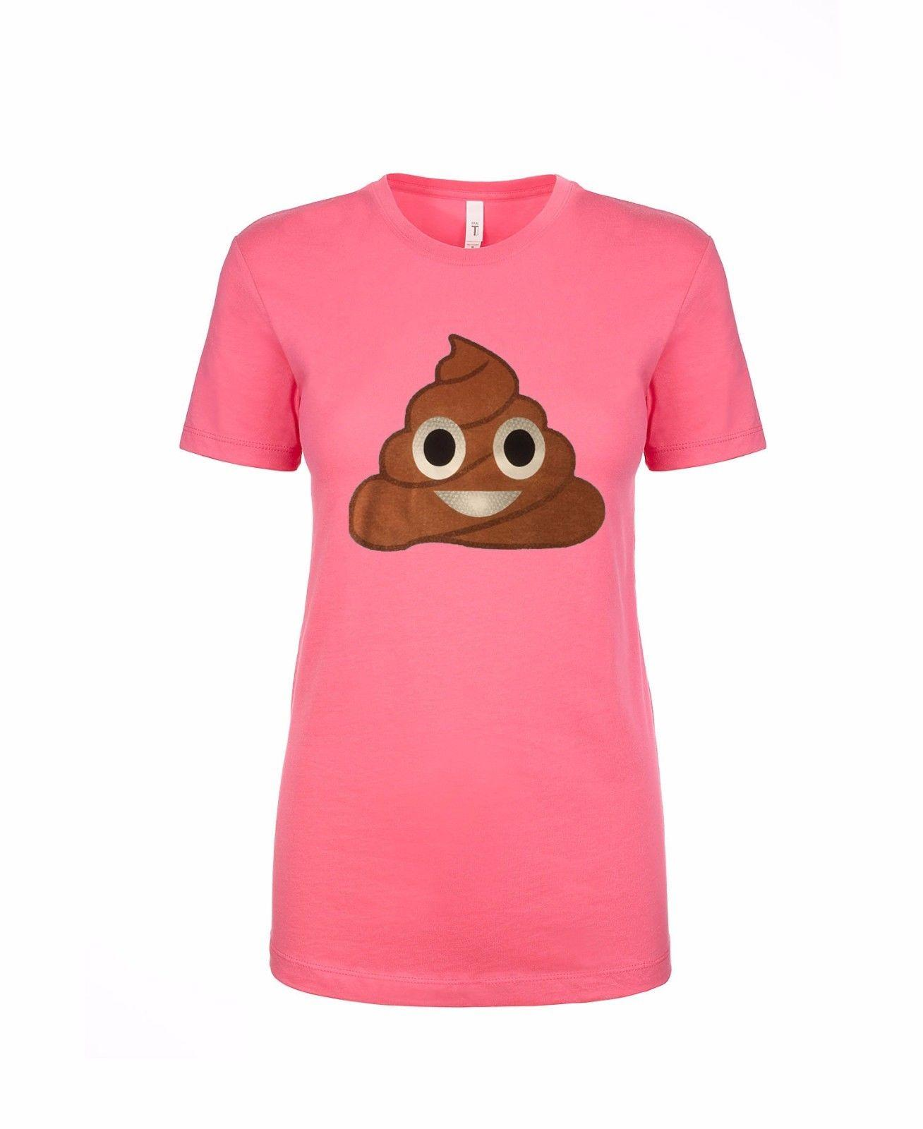a864b7547a EMOJI WOMEN S T-SHIRT POOP Funny free shipping Unisex Casual tee gift