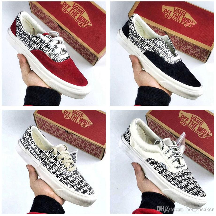 9d088a92b53cf 2019 2018 Fear Of God X Shoes PacSun For Men Woman New Fog Era 97 Reissue  Casual Canvas Skate Shoe Off The Wall 35 45 From Hot sneaker