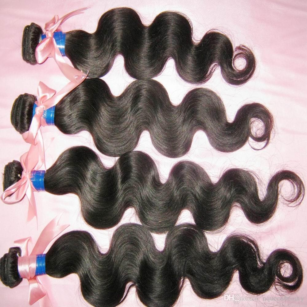 جمال الطبيعة العذراء البرازيلي غير المجهزة الجسم موجة الشعر البشري ينسج / صفقات كبيرة