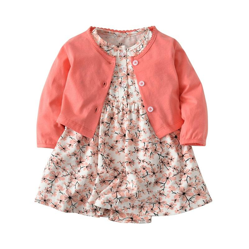 4ecff985e 2019 6 24 Month Baby Girls Floral Romper Dresses 2018 New Spring ...