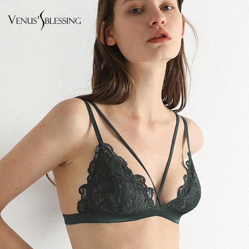 c5e6796ee3 2019 Sexy Women Triangle Bra Lace Wire Unpadded Bra Bustier Sheer Top  Bralette Transparent Cup Wireless Bras Brassiere Lingerie From Liuyang2016