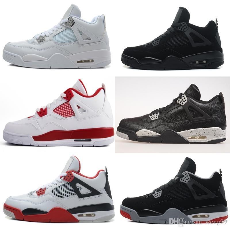 85142059a50332 2018 New Men 4 Basketball Shoes Military Motosports Blue Alternate 89 Pure  Money White Cement Royalty Bred Fire Red Black Cat Oreo Sneakers 4  Basketball ...