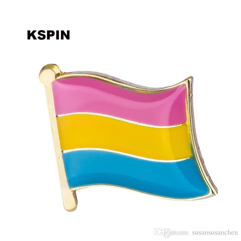 Gay Pride Pansexual Flag Shape Badges for Backpacks Pin Brooch Set  Decorative Buttons for Clothes