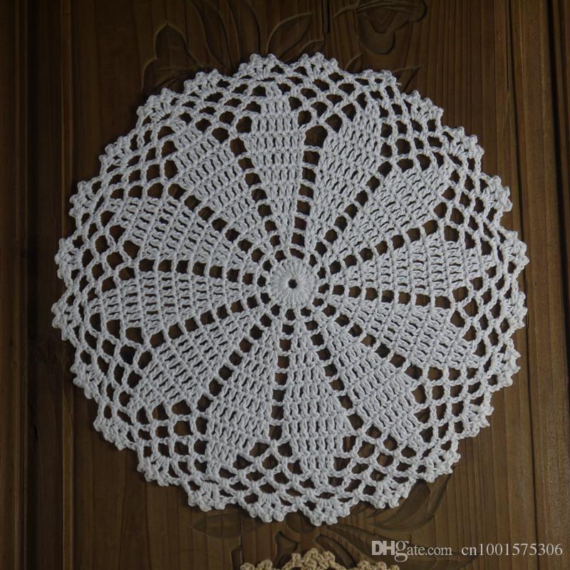 gran cantidad de 14 Hand Crochet tapete blanco Beige Cotton 7