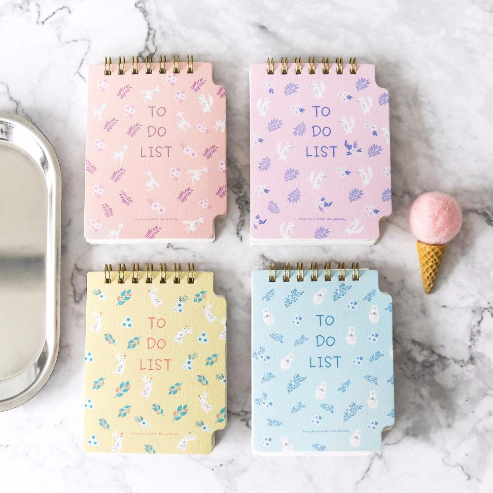 2019 Cute Animal Erect Todo List Memo Schedule Pad Mini Notplanner