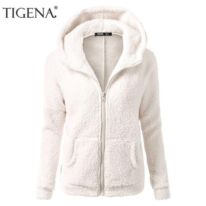 9ac4f09313 TIGENA Plus Size S 5XL Velvet Zipper Hooded Sweatshirt Women Long Sleeve  Pink Hoodies Sweatshrt Female Sweat Femme Polerones UK 2019 From Yuanbai