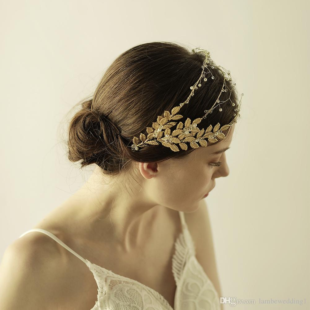 Hair Adornments Flexible And Bendable Wedding Accessories Handmade Glinting Leaves Bridal Headpieces Tiaras Petite Crystal Bridal Hairbands