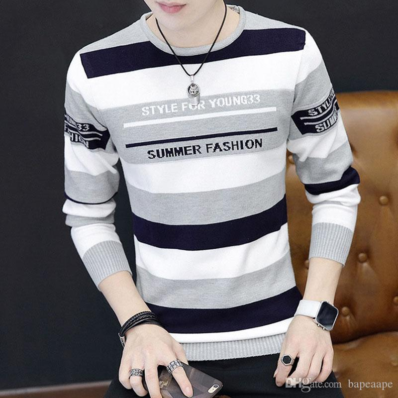 feb412e911d Man Hoodies Pullover Sweaters High Quality Black Yellow Balck  White  Stripes Sweaters Men Women Couple Fashion Sweaters Men s Hoodies Male  Clothing New ...