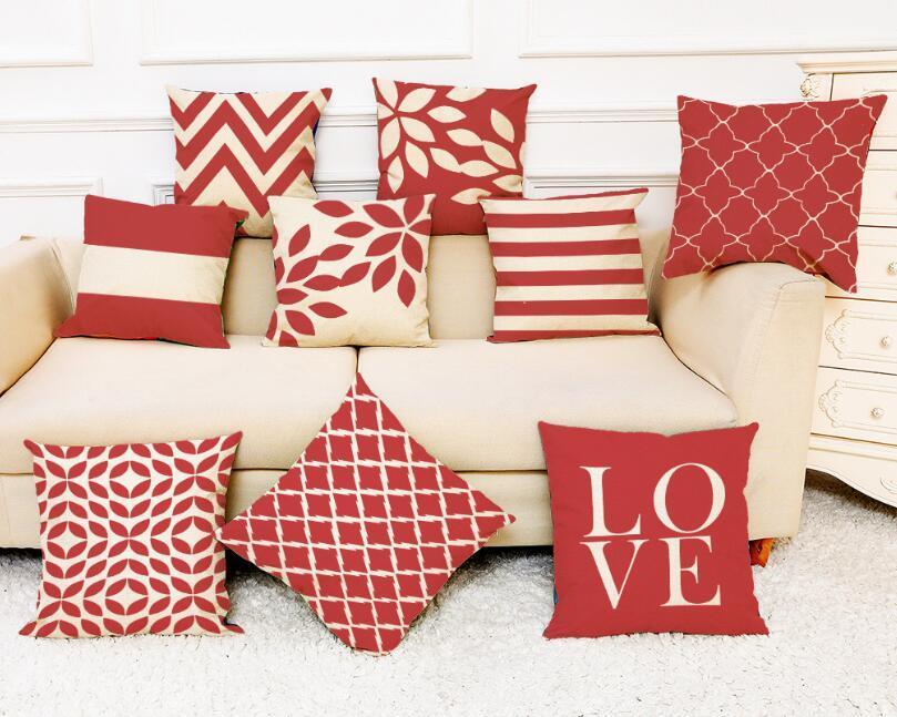 dcd1d48c690bc2 Amor vermelho projeta cama capa de travesseiro decoração de casa capa de  almofada almofadas decorativas sofá cadeira AMOR fronha para sala de estar  ...