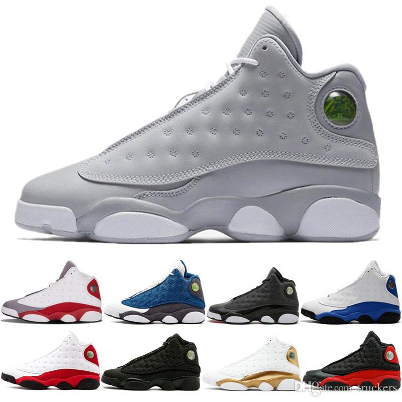 e81d611dc9d 2018 Men Basketball Shoes 13 Wolf Grey Hyper Royal Black Cat Chicago  Altitude Bred He Got Game Wheat 13s Mens Trainers Sports Sneakers 41 47  Shoes On Sale ...