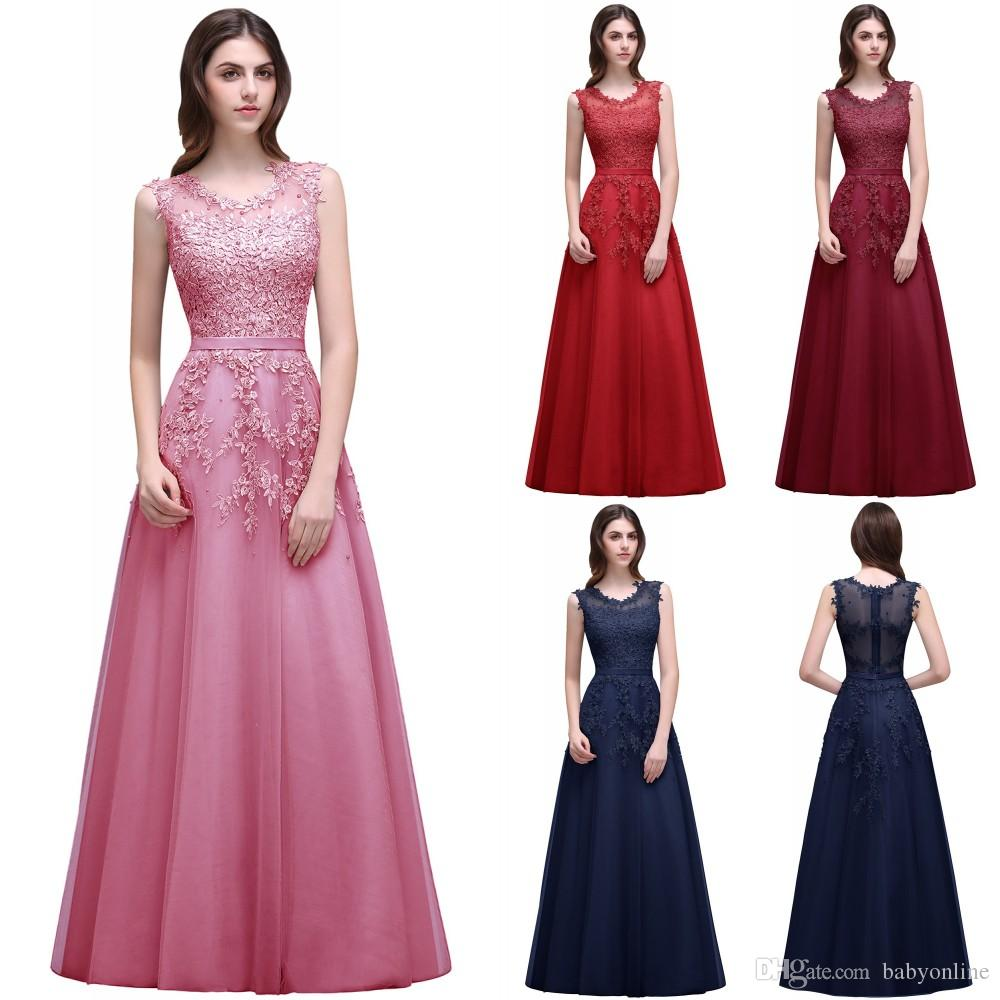 4719bc5ba0 Vestido De Festa Longo Lace Formal Evening Dress Robe De Soiree 2018  Appliques Sequins Long Party Prom Gowns Cheap CPS299 Evening Dress Short  Evening ...