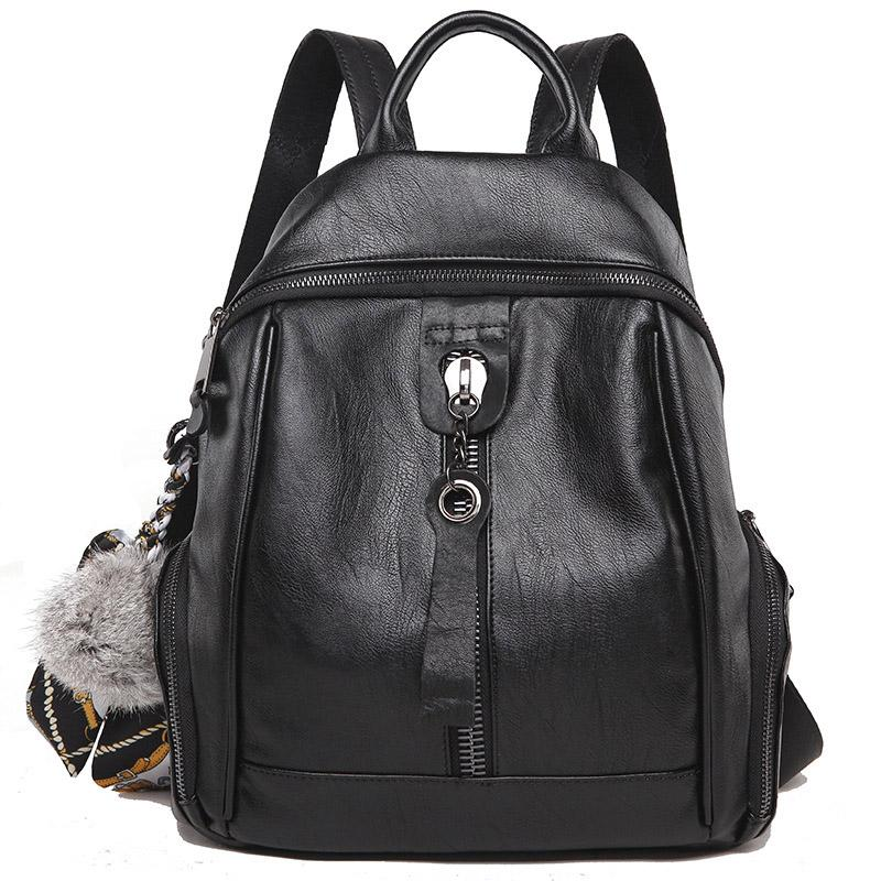 Youth Girl School Bags Travel Backpack Genuine Leather Women Backpack For  Teenager Cow Leather And Sheepskin Luxury Shoulder Bag Laptop Backpacks  Travel ... a7e23c133dcc2
