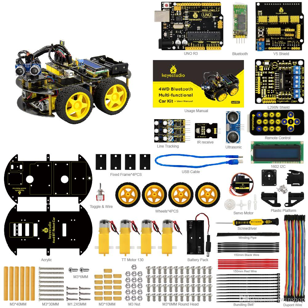 blue ford fiesta 2017 Array - 2018 4wd bluetooth multi functional diy smart  car for arduino robot rh dhgate com