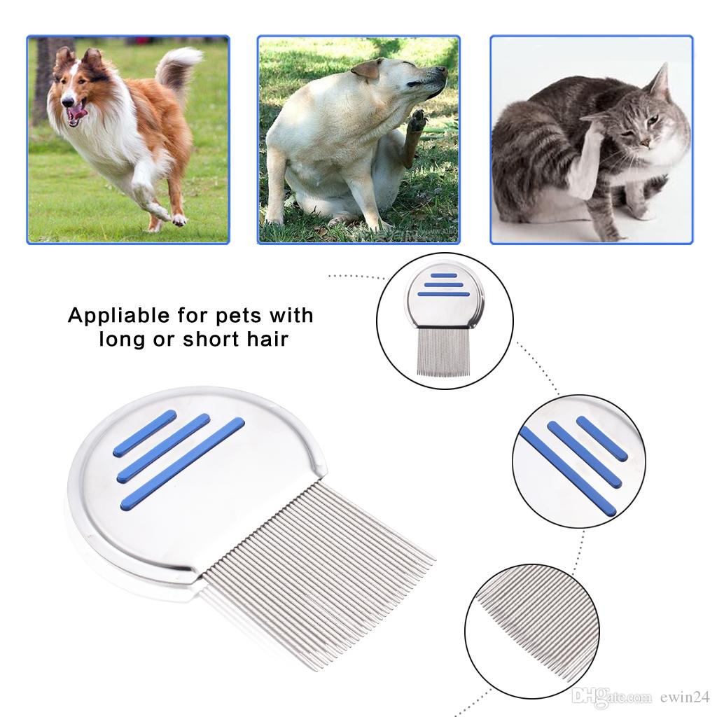 Stainless Steel Lice Comb Grooming Brush Clean Tool For Pet Dog Cat High QUality