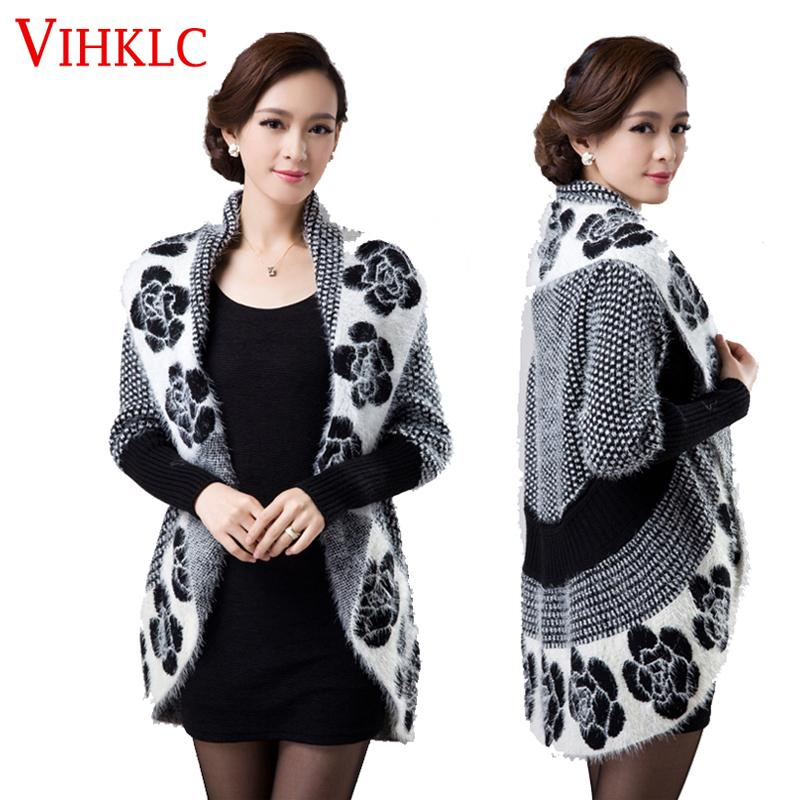 2019 2016 Spring Autumn Women Korean Fashion Flower Mohair Knit Shawl  Cardigan Sweater Jacket Medium Long Sweaters Plus Size 3XL G413 S18101005  From ... 957614626