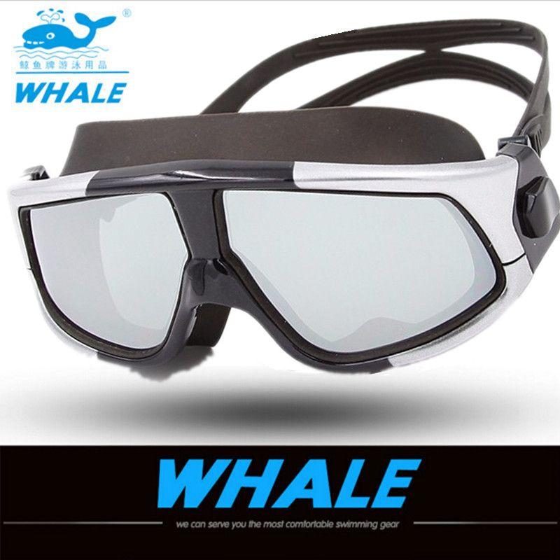 8063d7f1553c8 Compre Marca Profissional Grande Quadro Natação Óculos Adultos À Prova D   água Nadar Uv Anti Nevoeiro Marca Óculos De Natação Óculos De Natação 2018  De ...