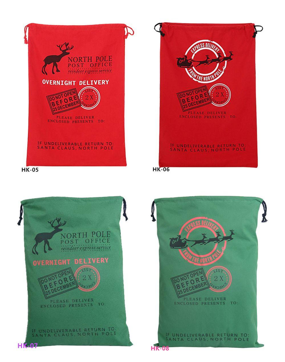 Christmas Gift Bags Large Organic Heavy Canvas Bag Santa Sack ...