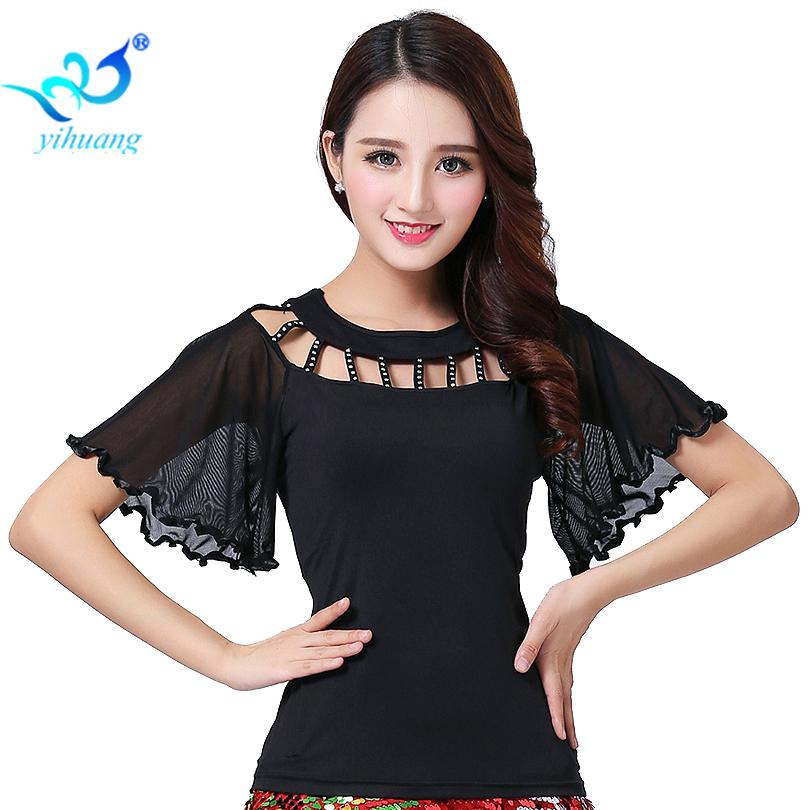 d7923b8bd001 2019 Smooth Ballroom Dance Costume Tops Latin Cha Cha Flamenco Dance  Blouses Modern Standard Outfits Tango Waltz Salsa Samba Tops From Honhui,  ...