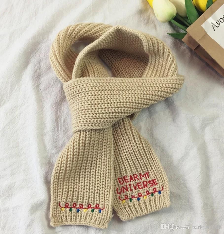 купить оптом вышивка вязание шерсть маленький шарф женщины корея