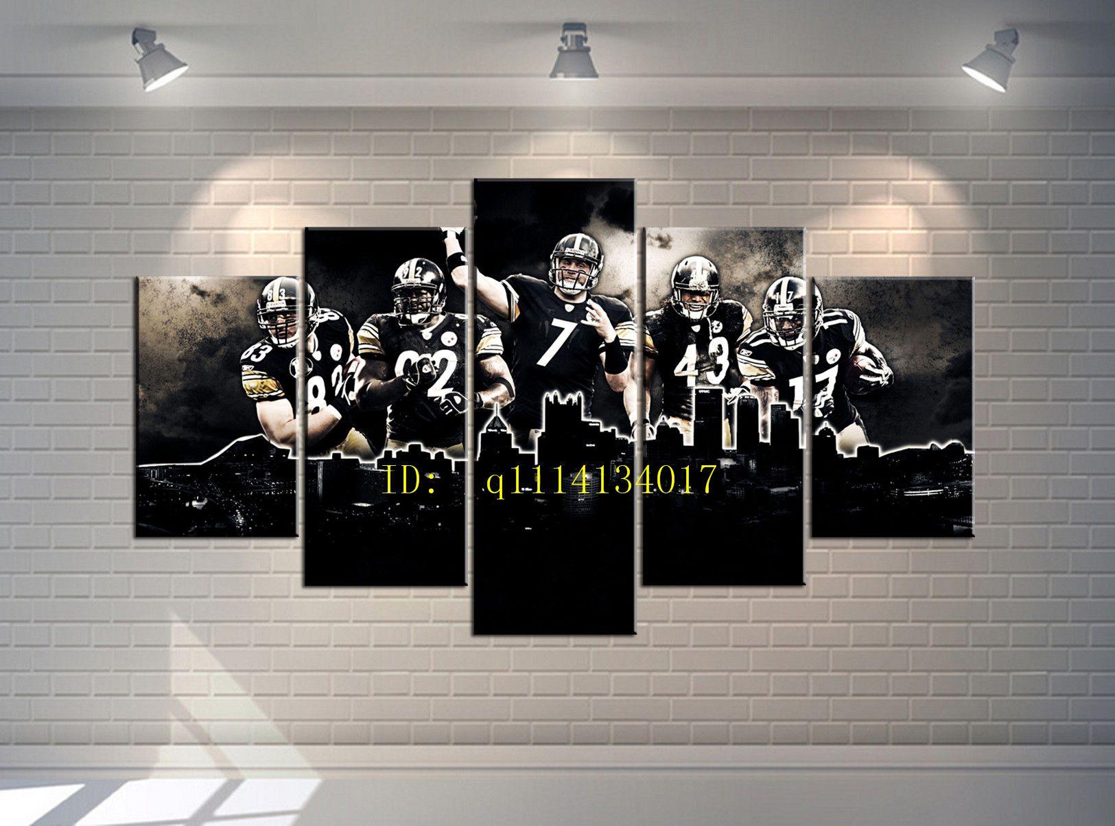 Großhandel Rugby Player 7 5 Stück Leinwand Wandkunst Ölgemälde Home ...