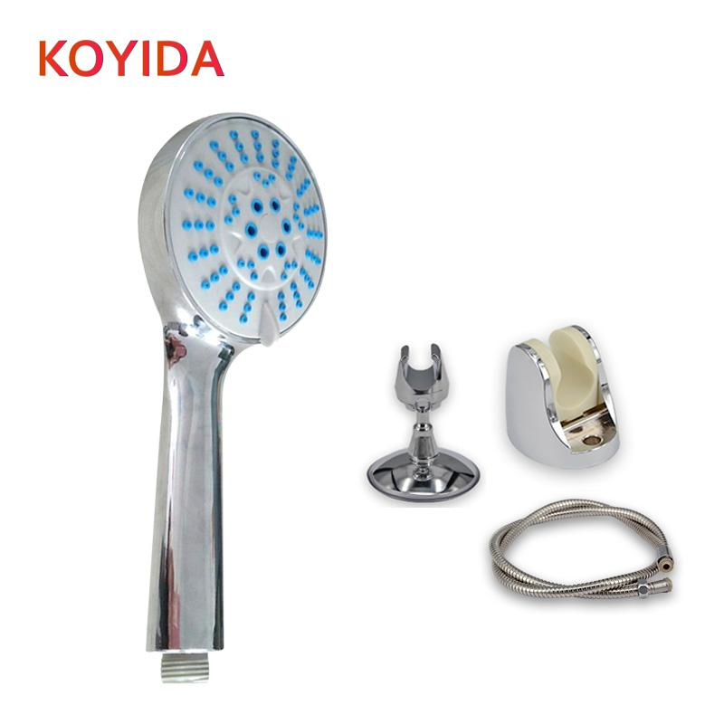 KOYIDA Shower Head Set 5 Functions Handheld Showerhead ABS Chrome Water Saving Bath Shower Head with Holder pomme de douche