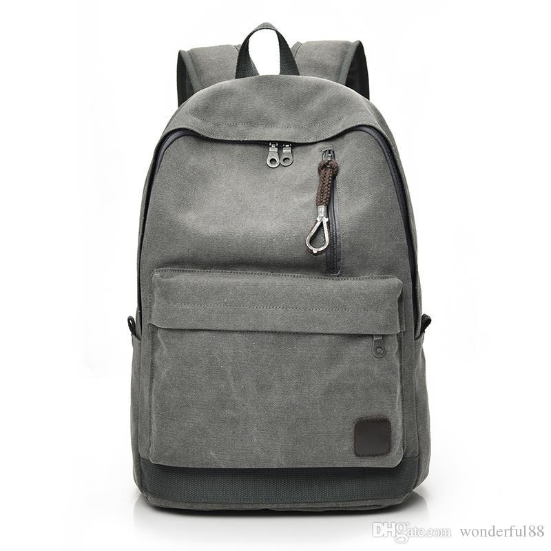 2fcb6e6da DIDA BEAR 2018 Women Men Canvas Backpacks Large School Bags For ...