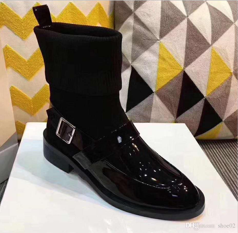véritable cuir chaussures la bottes haut boucle la chaussures conception des tennis c58246