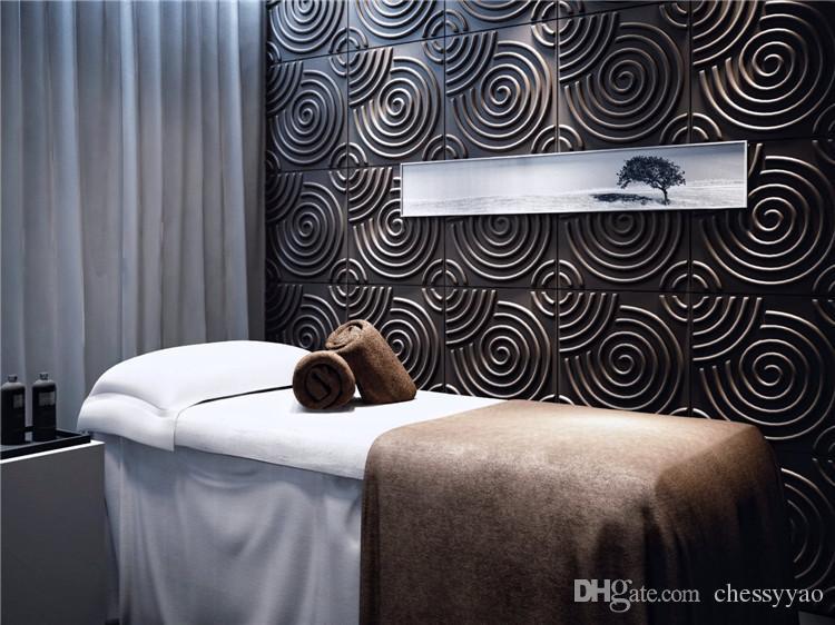 Castle home ktv hotel cafe shop decoration style Waterproof Spirulina Shape Designed Light-weight 3D PVC Wall/Ceilling Panels