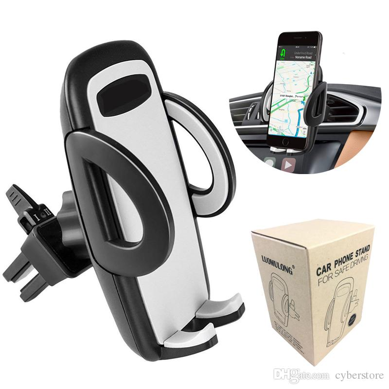 Air Vent Phone Holder Car Mount 360 Degree Rotation Cradle with Quick Easy  Release Button Universal For iPhone Samsung Huawei Smartphones