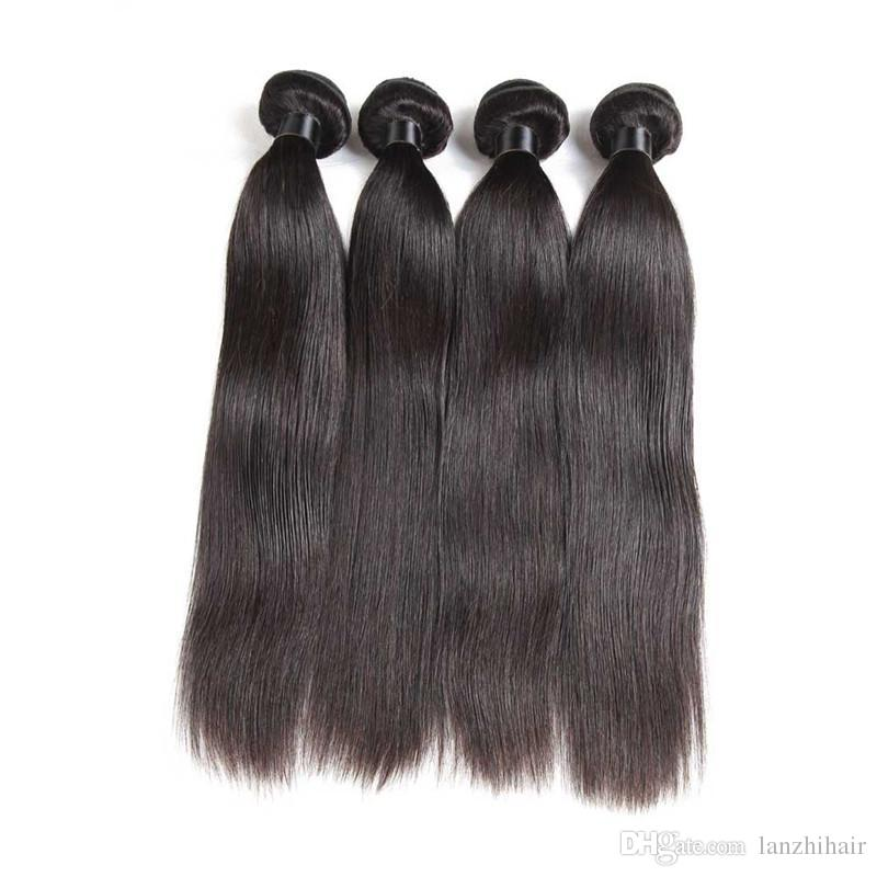Malaysian Brazilian Peruvian Virgin Human Hair Weaves 3 bundles Straight Style Natural Black Unprocessed Remy Hair Extensions Bundles
