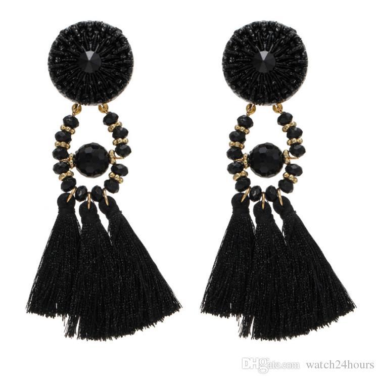 0b2939a9e 2019 2018 Women Boho Style Drop Dangle Fringe Earring Vintage Ethnic  Statement Tassel Earrings Fashion Jewelry Birthday Christmas Gift From  Watch24hours, ...