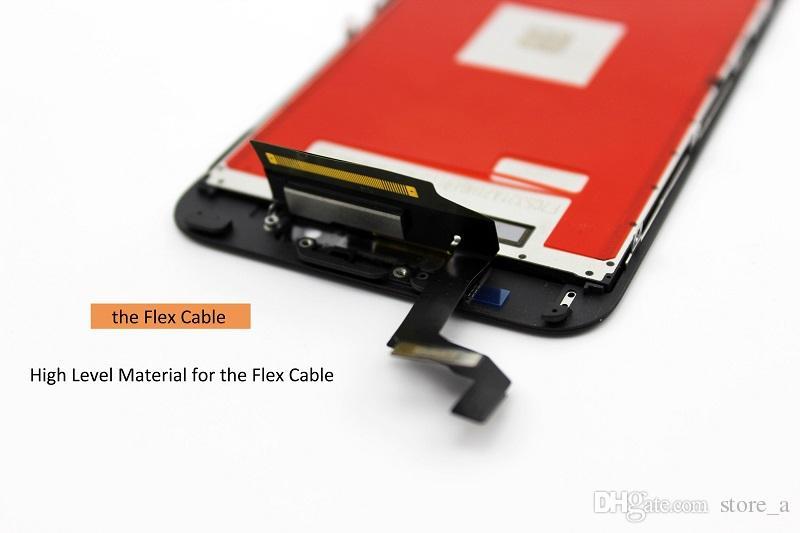 Grado A +++ Pantalla LCD Pantalla táctil Digitalizador Asamblea completa para iPhone 6S Plus 5.5 pulgadas Pantallas de reemplazo táctiles 3D Negro Blanco