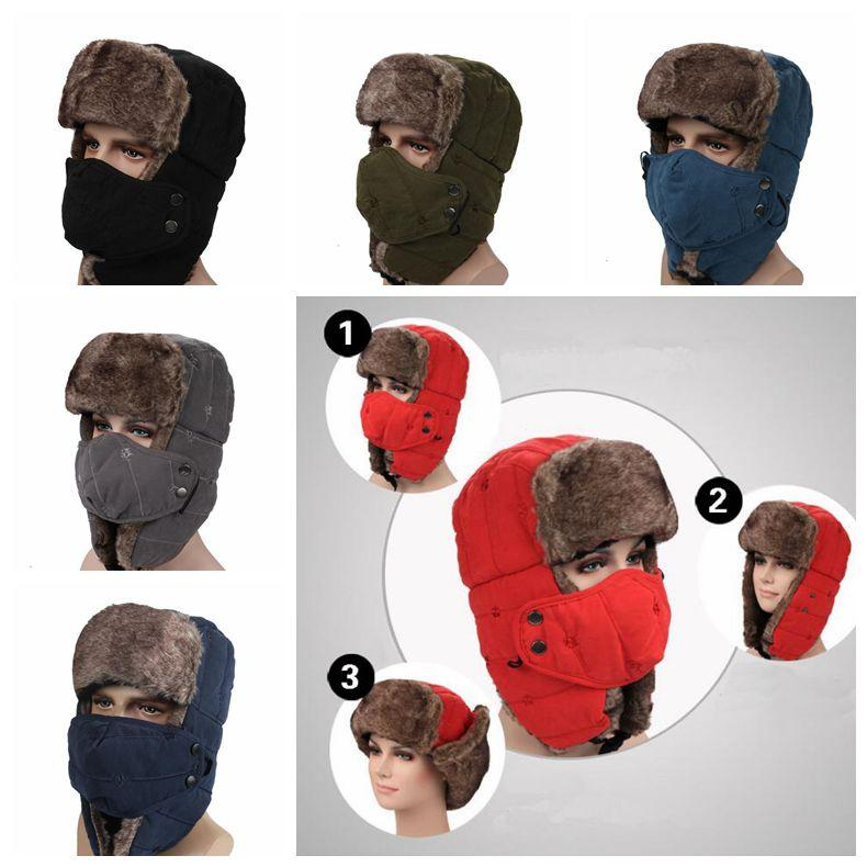 544b7996b9a58 2019 Solid Winter Trapper Hats With Ear Flaps Ushanka Russian Hat Winter  Outdoor Warm Hat Skiing Sport Hats Party Hats CCA10750 From B2b life