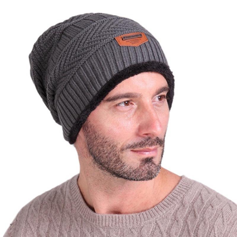 ba63707ac5d 2017 New Knied Hat Autumn winter Cap Men Women Fleece Inside Warm Baggy Hat  Male Ear Protection Caps Aliexpress Aliexpress.com Online Shopping Online  with ...