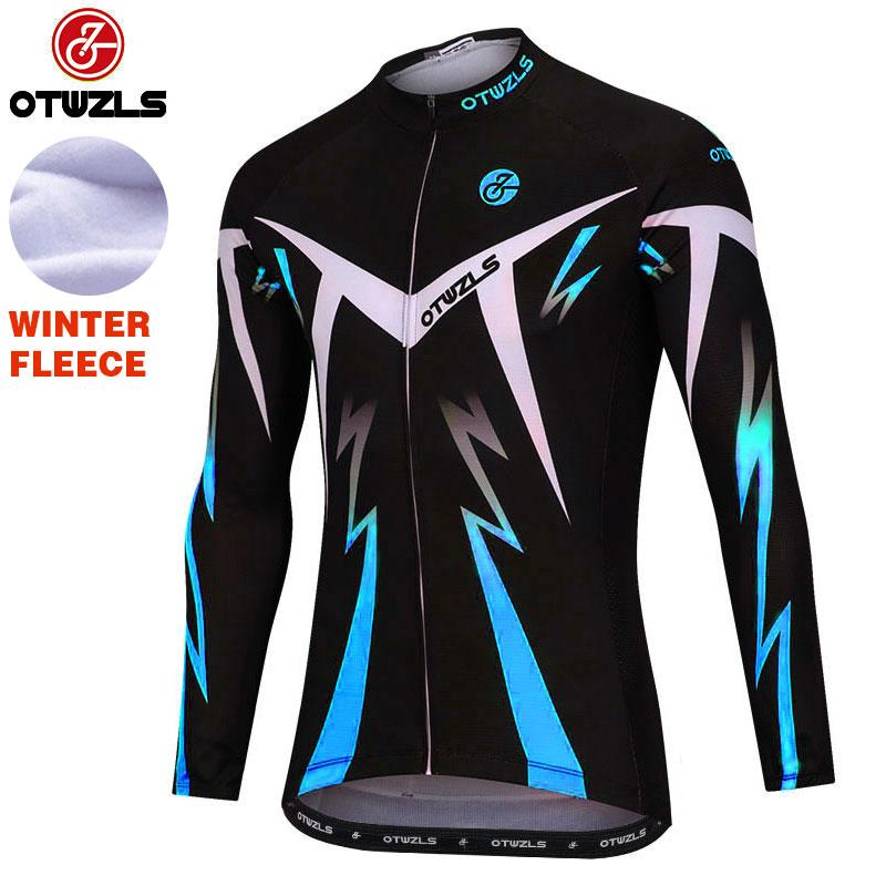 65563588a 2018 Men Cycling Jersey Winter Thermal Fleece Cycling Clothing Pro ...